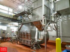 Uniroyal Parmesan Cheese Dryer, 250 to 500 kg/hour With Sock House and Steam Coil, Blower Fan