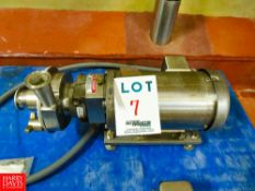 Puma 2 Hp. Centrifugal Pump, with Sterling 1,750 RPM S/S Clad Motor Rigging Fee: $35