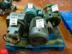 Nema and Leeson 25 HP and 15 HP Motors, with Mobile Gear Rigging Fee: $35
