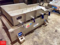 "Key ISO FLO S/S Vibrating Conveyor, Model: 437989-1, S/N: 09-213390, 78"" Long X 36"" Wide. Rigging"