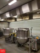 150 Gallon S/S Kettle, S/N: 8402-1, With Scrape Surface Agitator, 100 Psi. MAWP At 338 Degrees F..