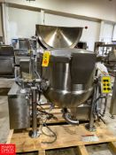 2011 Cleveland 60 Gallon S/S Kettle, With Scrape Surface Agitator, 100 Psi. MAWP. At 338 Degree,