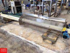 "S/S Frame Power Belt Conveyor, 6"" X 173"". Rigging Fee: $75"