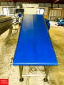 """Inclined Power Belt Conveyor 65"""" X 24"""" , With Drive. Rigging Fee: $250"""