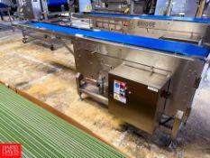 "Bridge S/S Frame Power Conveyor Model: SAC 12/35, S/N: 27953-OE, 122"" X 17"", With Intralox Belt."