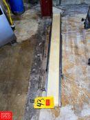 "S/S Frame Belt Conveyor, 4"" X 46"". Rigging Fee: $75"