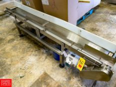 """S/S Frame Conveyor, With Drive 92"""" X 12"""". Rigging Fee: $150"""