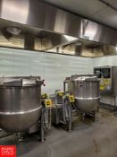 150 Gallon S/S Kettle, S/N: 8402-2, With Scrape Surface Agitator, 100 Psi. MAWP At 338 Degrees F..