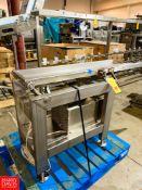 "S/S Shaker Conveyor, 74.5"" X 11.5"". Rigging Fee: $250"
