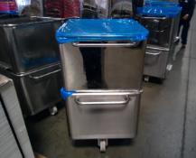 Vemag 50 Gallon S/S Portable Dump Tubs Location: Hayward, CA Rigging Fee: $75