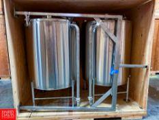 200 Gallon S/S Vertical Fermentation Tank Location: Northern California, California, United States