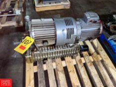 Bush Vacuum Pump With 7.5 HP Motor Location: Mt. Pleasant, Pennsylvania, United States Rigging