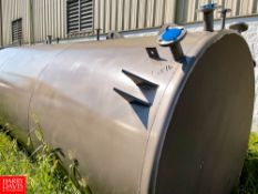 NEW 2019 3,170 Gallon S/S Conical Top Vertical Storage Tank, With Exterior Coating