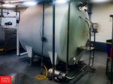 Cherry Burrell 2,000 Gallon Horizontal Refrigerated Tank, With Vertical Agitation, S/S Spray Ball,