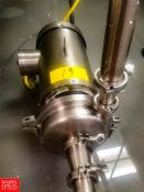 """WCB Centrifugal Pump Model: C216, With 3 HP 3,475 RPM S/S Clad Motor, 2"""" x 1.5"""" S/S Head, Clamp Type"""