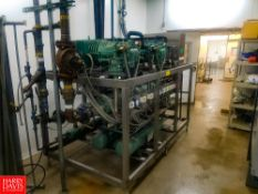 Pego Water Cooled Freon Condensing Package, Model: QE-HP70X2, S/N: 04-0252-01-002