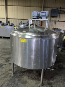 Crepaco 200 Gallon S/S Dome Top Dish Bottom Insulated Mix And Blend Tank, With Vertical Wide Sweep