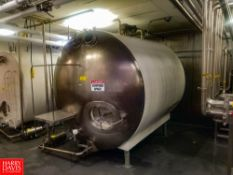 Walker 2,000 Gallon S/S Horizontal Insulated Tank, With S/S Front, Vertical Agitation, S/S Spray