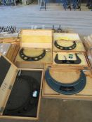 Lot of 5 O.D. Micrometers