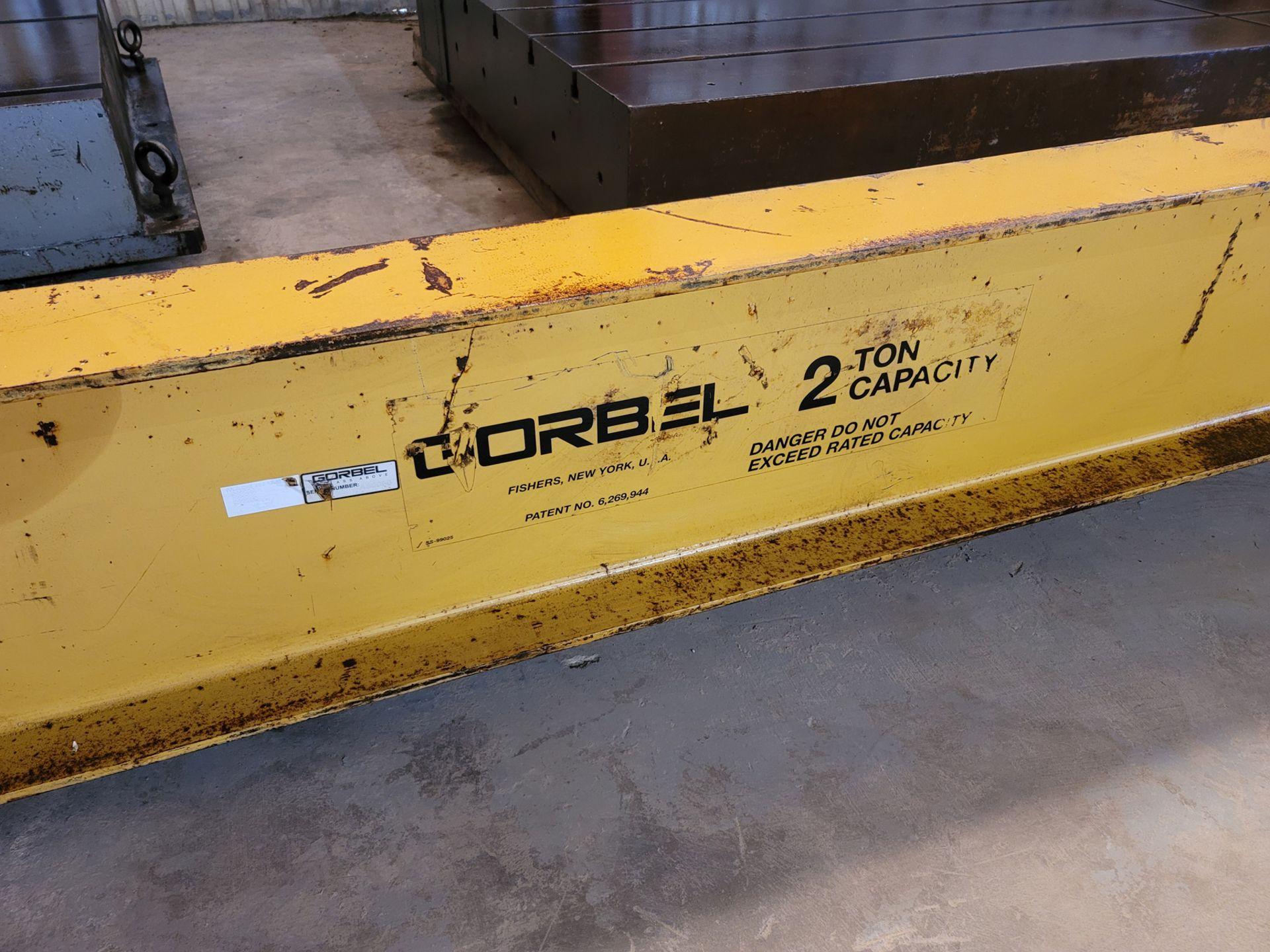 Gorbel 2 Ton Jib Crane with 2 Ton Lodestar CM Hoist - Image 3 of 7