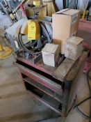 Chopsaw on Tool Cart