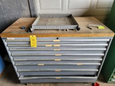 Lista 8 Drawer 2'' Wooden Work Top Tool Cabinet with Contents