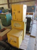 Lot of 3: Flammable Cabinets