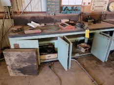 Long Work Bench with Contents