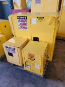 Lot of 3: Flammable Cabinets, Assorted Sizes