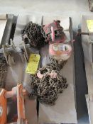 Lot of 2: (1) 1-Ton Chain Hoist, (1) 3/4 Ton Chain Hoist