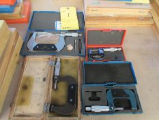 Lot of 4 O.D. Micrometers