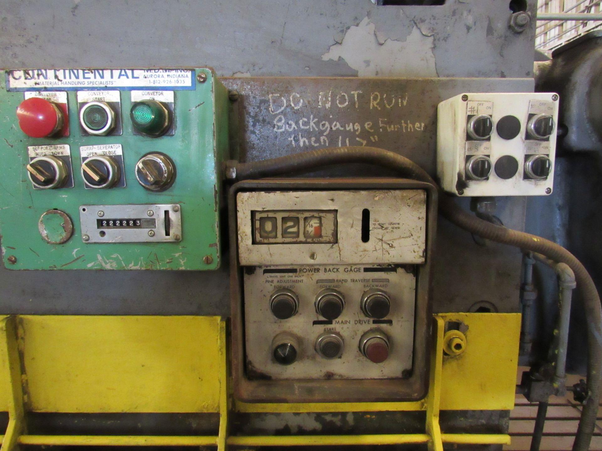 "3/8"" x 12' Cincinnati Mechanical Shears - Image 3 of 6"