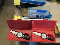 Lot of 2 Dial Torque Wrenches+ 2 Calipers