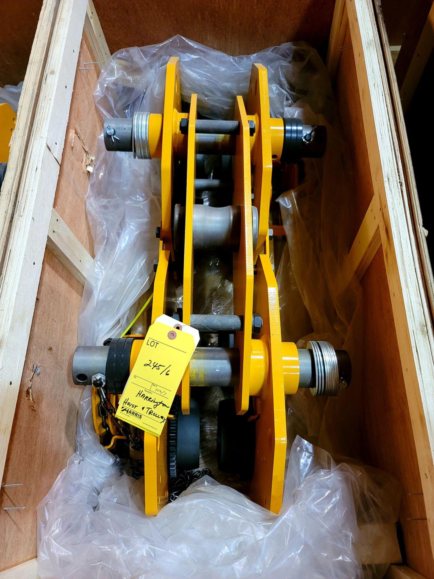 Harrington Hoist & Trolley, NEW in Crate - Image 2 of 2