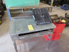 Lot: (1) Work Bench with Magna Bits Holder; (1) Cornwell Cart with Contents