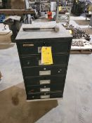 Diebold 6 Drawer Metal Cabinet on Casters, with contents