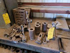 Lot: Mill Set-up tools, lathe holders, digital pressure indicators, small cabinet