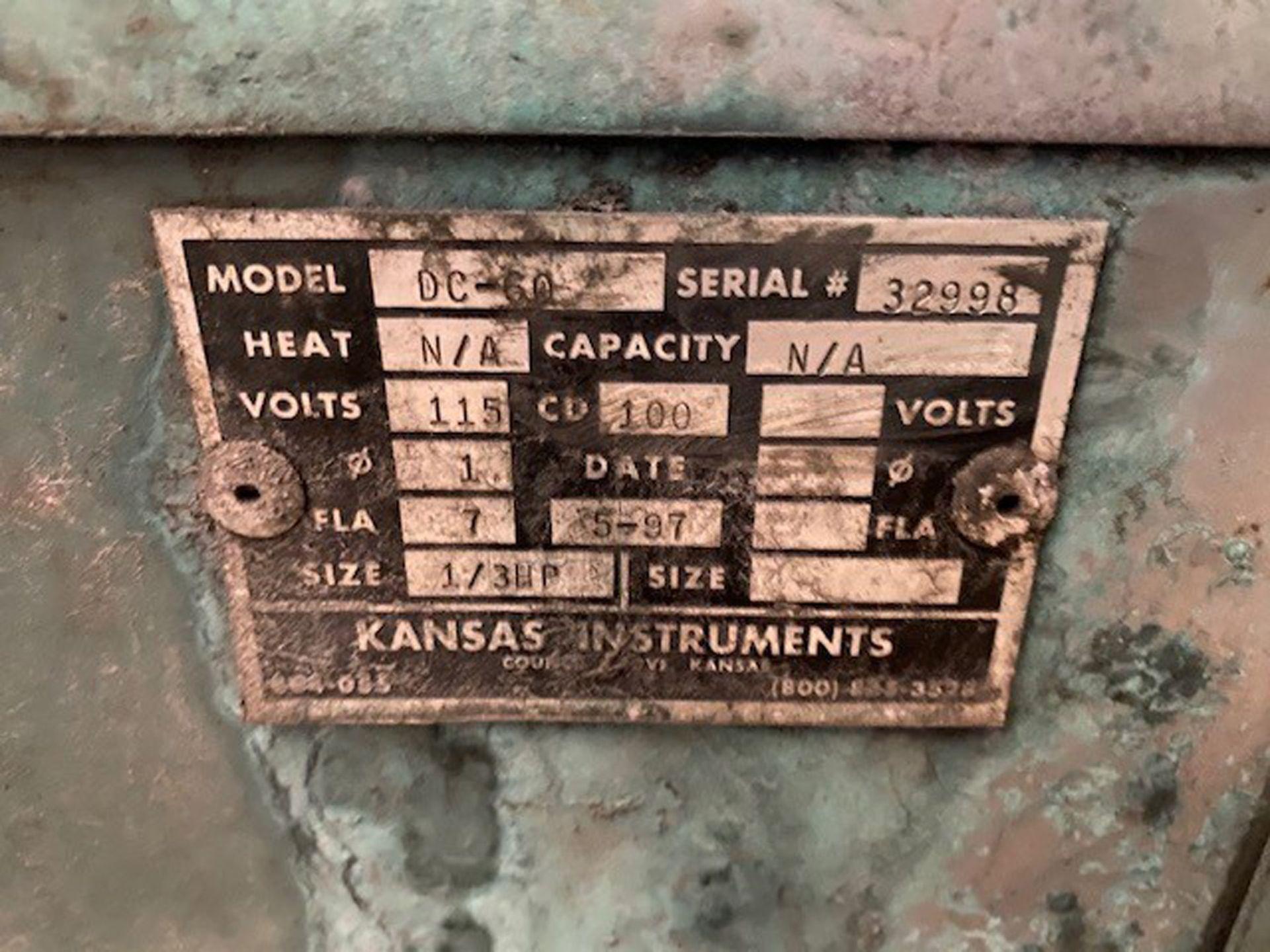 Kansas Instruments Model AB-502B Bake / Blast / Tumble Machine - Image 12 of 12