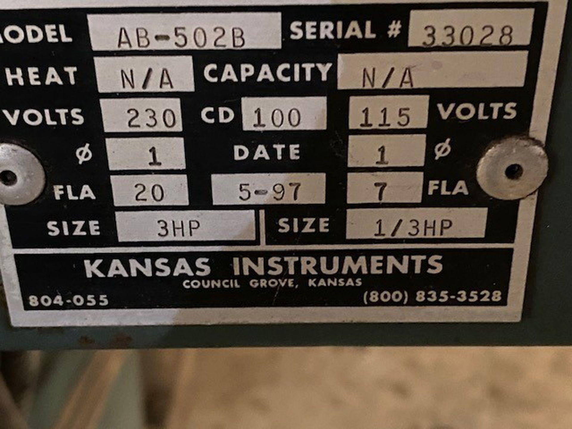 Kansas Instruments Model AB-502B Bake / Blast / Tumble Machine - Image 9 of 12