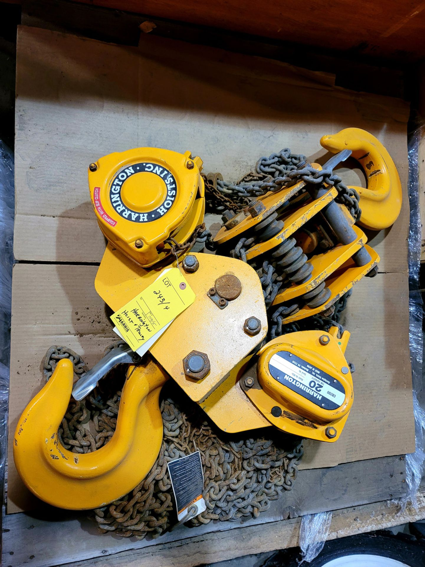 Harrington Hoist & Trolley, NEW in Crate - Image 3 of 3
