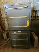 Lot of 3: (2) Equipto Tool Cabinets, (1) Open Shelf - no contents