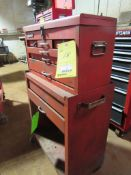 8 Drawer Rolling Stack-on Tool Box with Contents