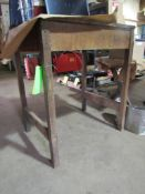 """Wooden Work Table, 33"""" x 26"""" x 39"""" H"""