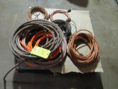 Lot: Air Hoses and Extension Cords