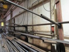 """Single-sided Cantilever Rack, 3 Level Extension Arms, with Contents, 98"""" H x 40"""" Base"""