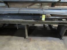 """Conveyor Section, 120"""" x 22"""" x 30"""" H, with Assorted Material Contents (solid rod, flat bar)"""