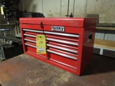 Husky 5 Drawer Tool Box with Contents