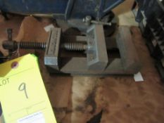 """Lot of 2: 4"""" Vise with Rotary Base, (1) Palmgren, (1) No make"""
