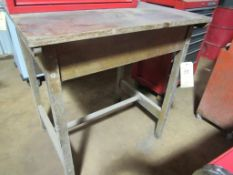 """Wooden Work Table, 31"""" x 36"""" x 40"""" H"""