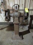 Baldor Double-Ended Bench Grinder on Pedestal Stand